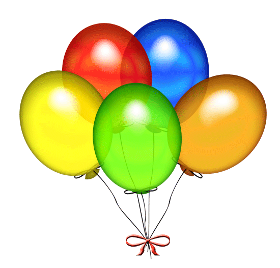 Anniversary Balloons Clipart. Birthday Clip Art