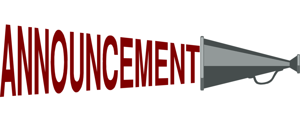announcement clipart