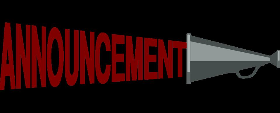 announcement clipart