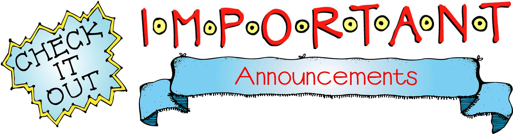 Announcement Clip Art