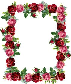 Another Free Digital Vintage Rose Frame -Another free digital vintage rose frame for all the vintage lovers among my visitors! The frame matches the printable rose stationery I p... png und clipart ...-0