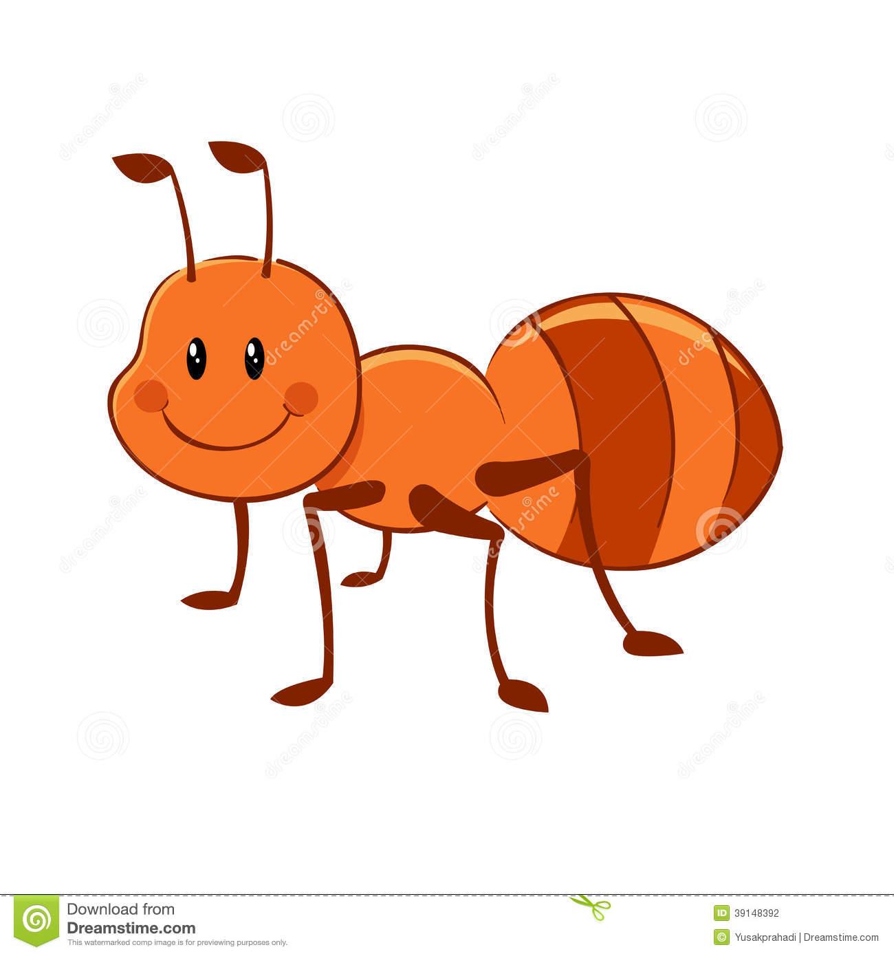 Ant Cartoon Stock Vector Image 39148392