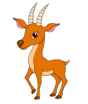 Antelope Standing With Big Eyes Clipart.-antelope standing with big eyes clipart. Size: 99 Kb-11