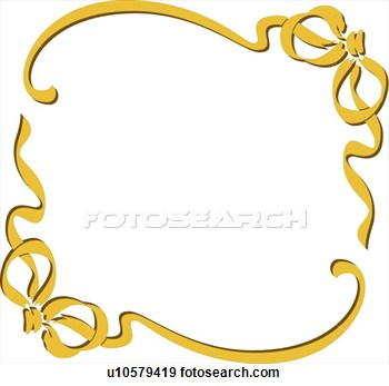 antique frame clipart gold