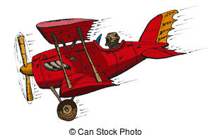 antique biplane Clipartby Hobie2/185; biplane cartoon - Vector hand draw doodle sketch biplane... ...