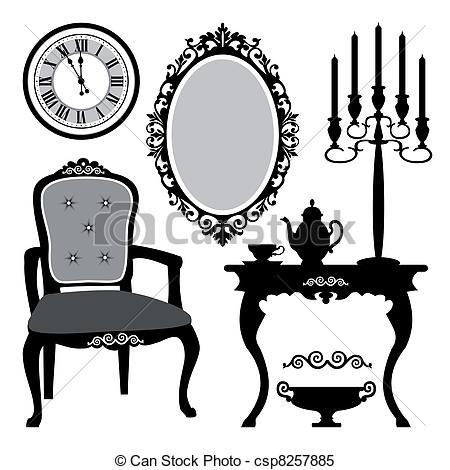 Antique Interior Objects - Csp8257885-Antique interior objects - csp8257885-4