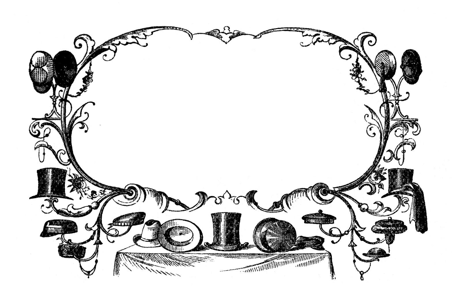 Vintage Advertising Clip Art U2013 Victo-Vintage Advertising Clip Art u2013 Victorian Hats-11