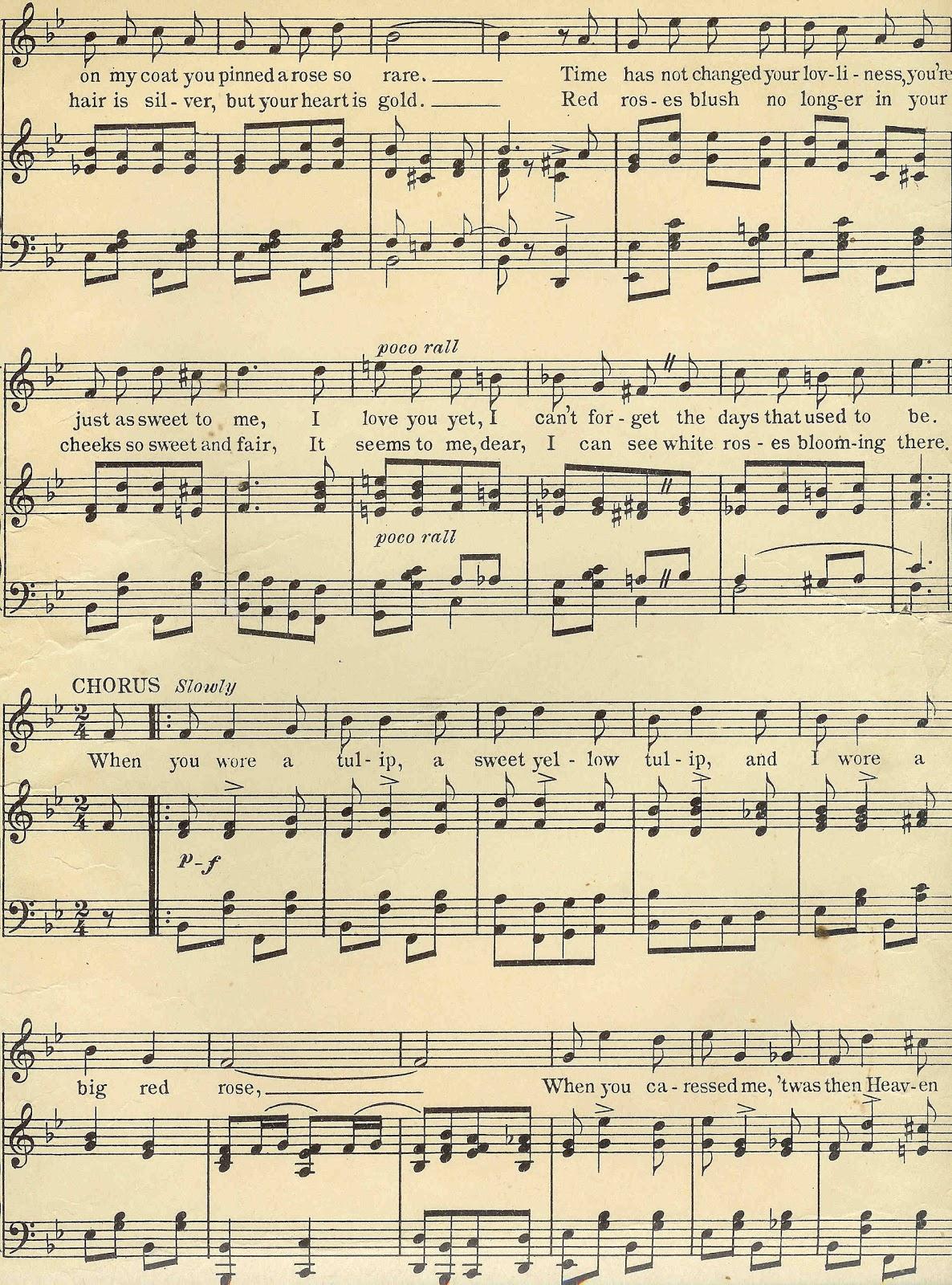 Antique Images Digital Background Of Sheet Music Vintage Sheet Music
