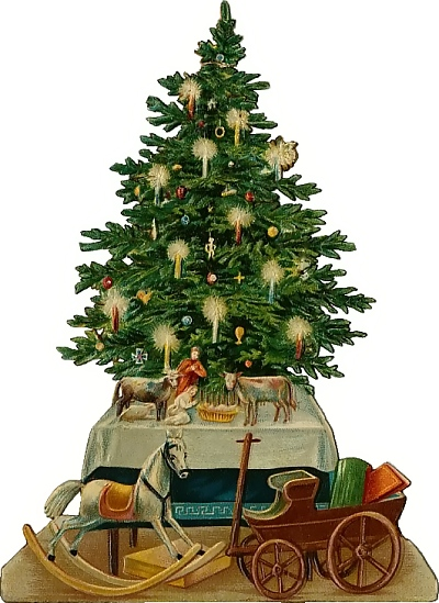 ... antique santa clipart christmas tree clipart ...