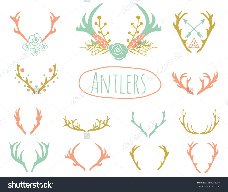 Antler Clipart Design in Vector