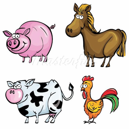 Any Ofcartoon Farm Animal Clip Art And Farmer In Tractor