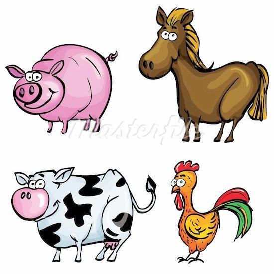 Any Ofcartoon Farm Animal Cli - Free Farm Animal Clipart