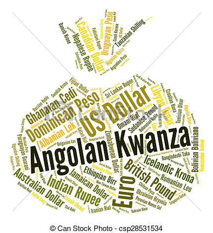 Angolan Kwanza Indicates Exchange Rate A-Angolan Kwanza Indicates Exchange Rate And Aoa - csp28531534-8