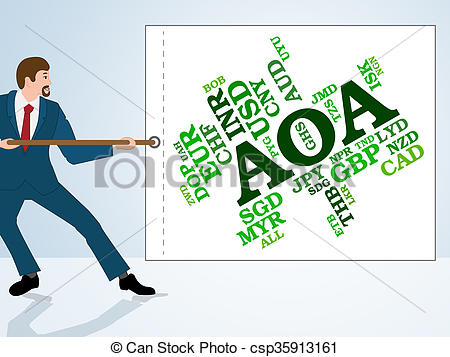 Aoa Currency Indicates Exchange Rate And-Aoa Currency Indicates Exchange Rate And Broker - csp35913161-2