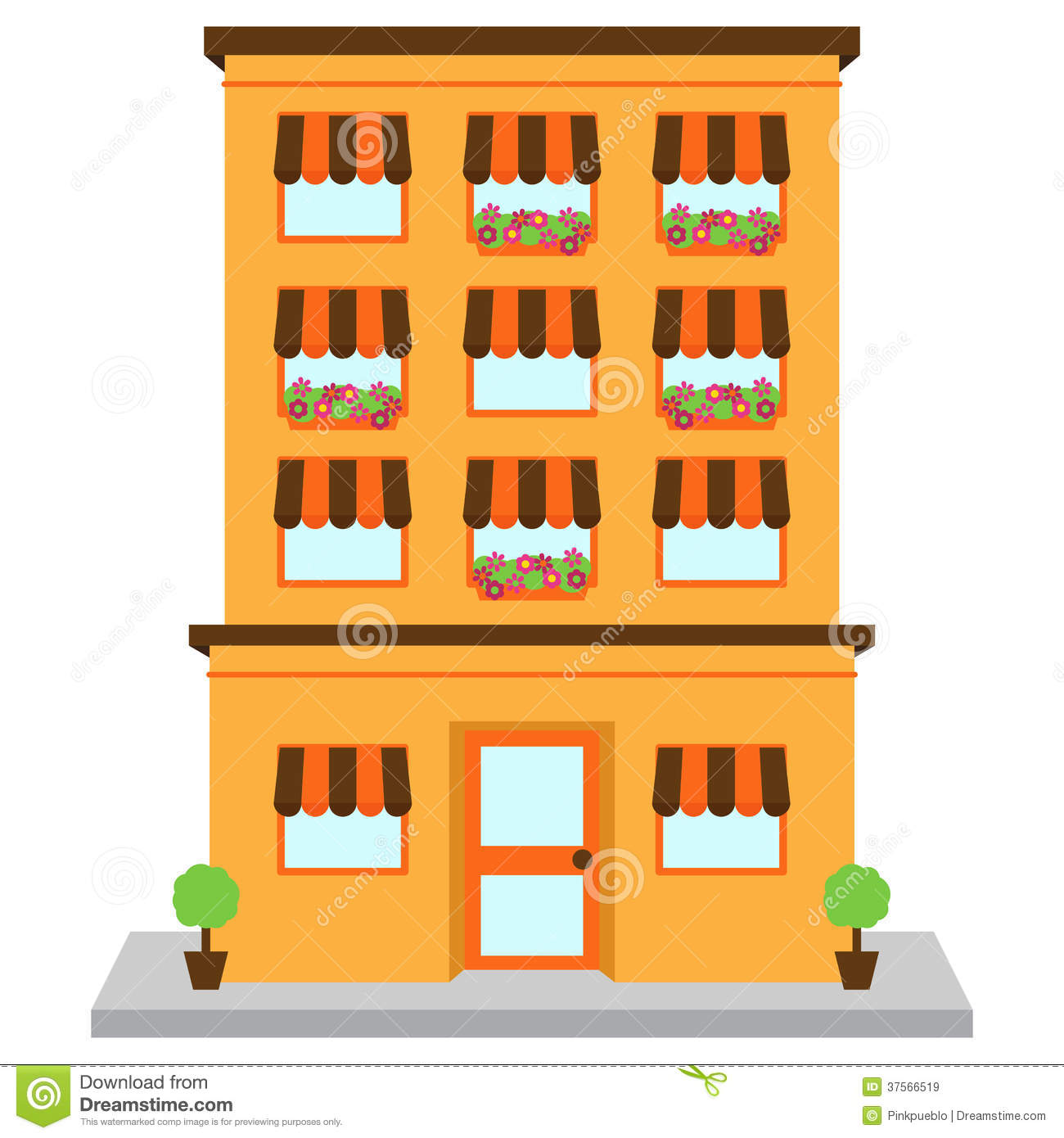 Apartment Building. Apartment At Clipart .
