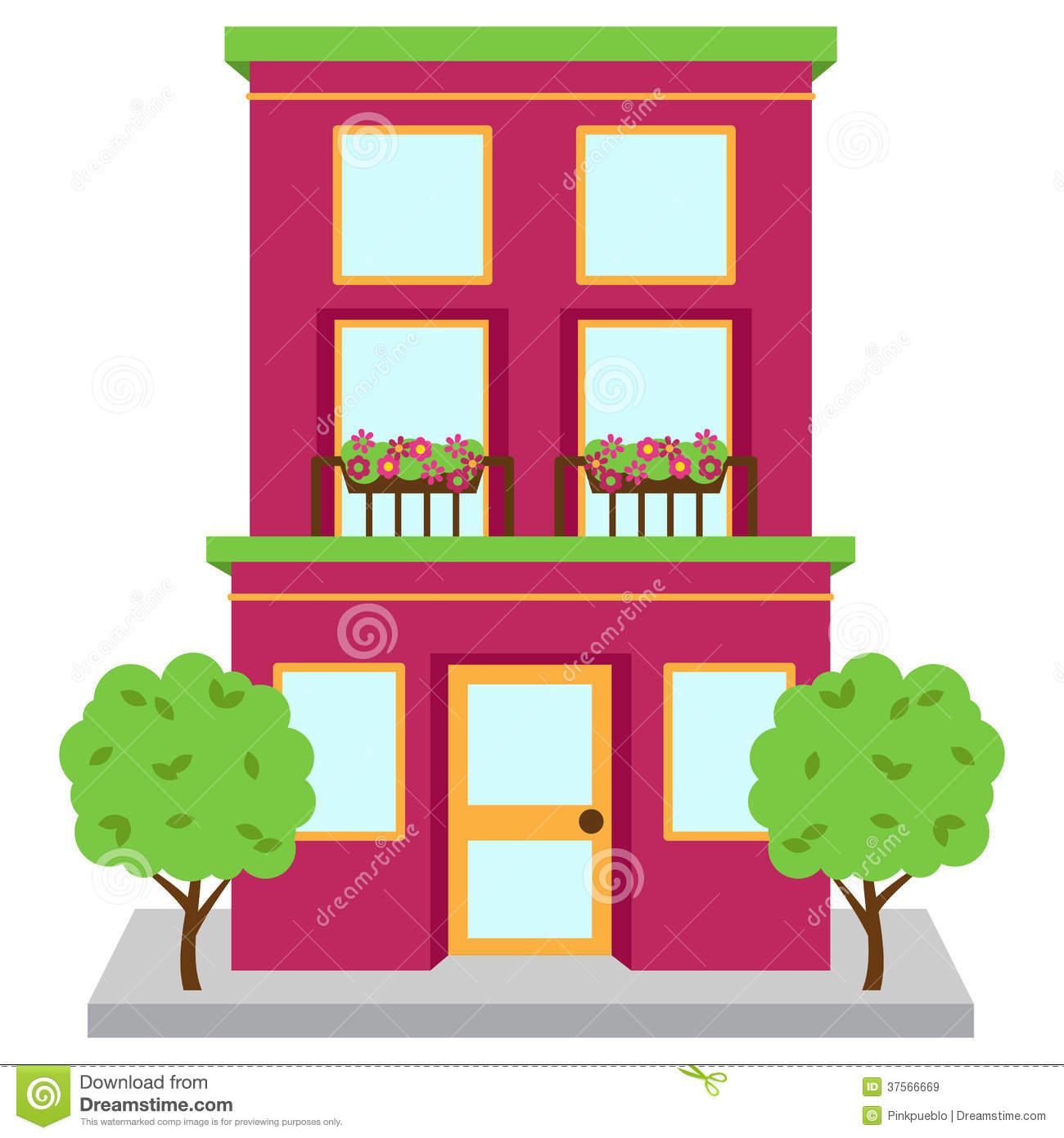 Apartment Building Clipart