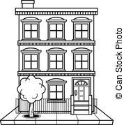 ... Apartment building vector