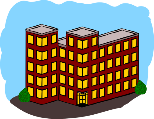 Vector graphics of switched towerflats in solid style