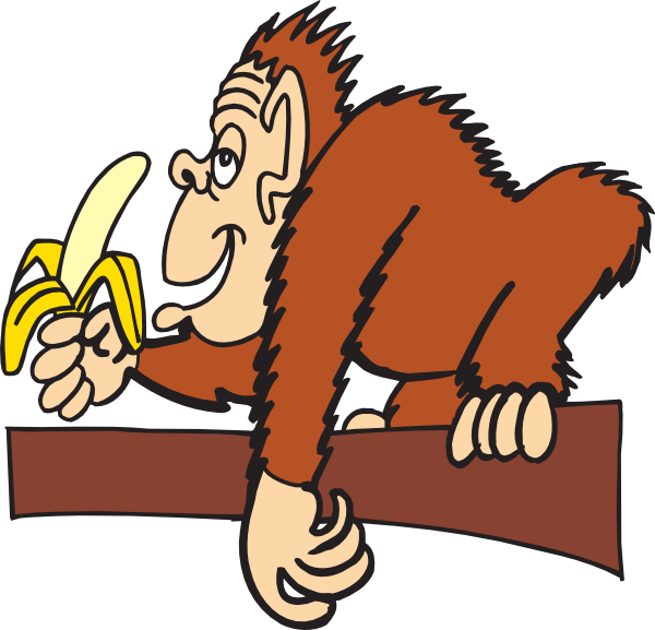 Ape With A Banana svg