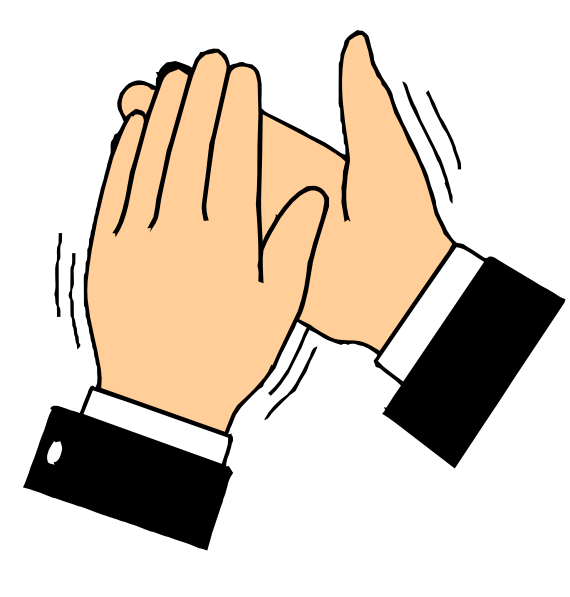 Human hands clapping vector a