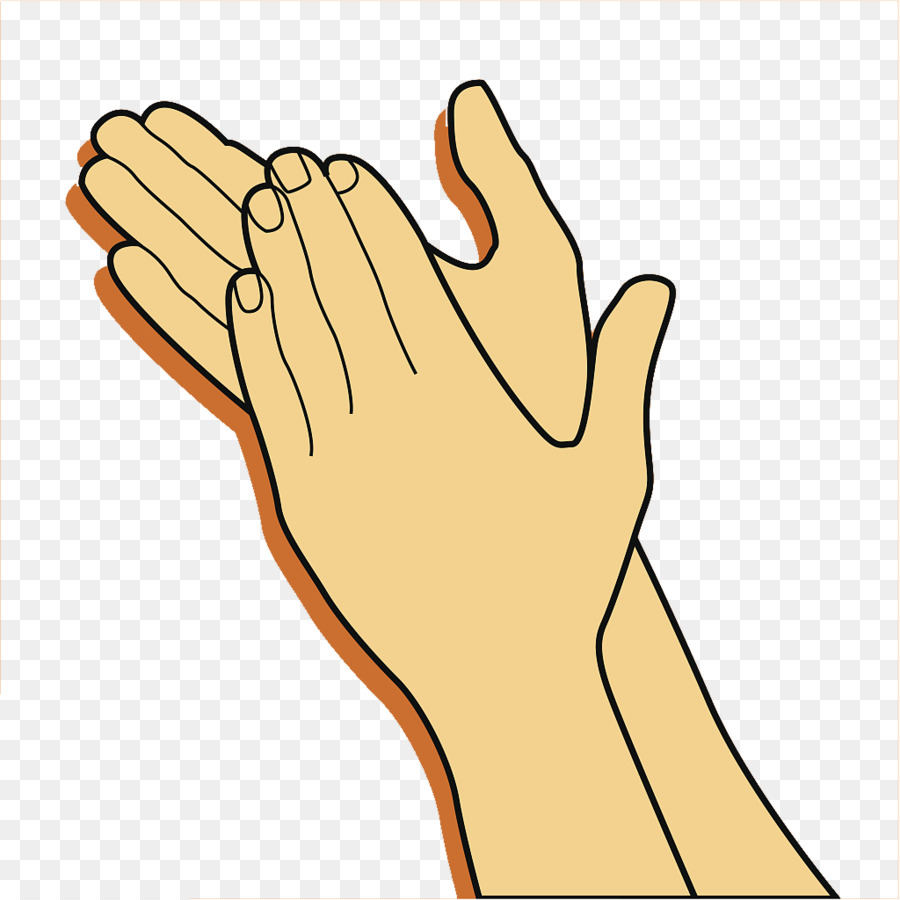Clapping Gesture Clip art - Clap your hands warmly and welcome your gestures