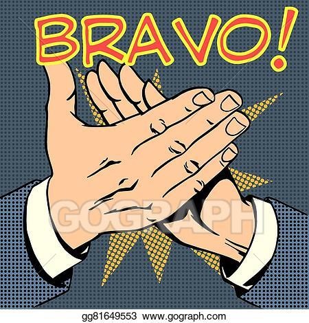 hands palm applause success text Bravo