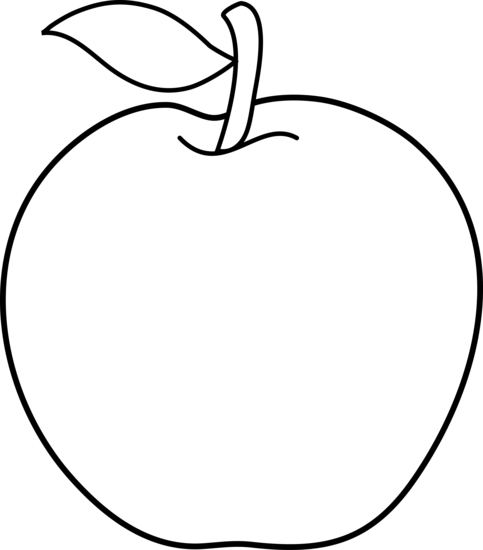 Apple Clipart Black And White-apple clipart black and white-2