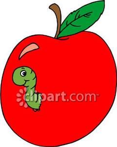 apple worm clip art