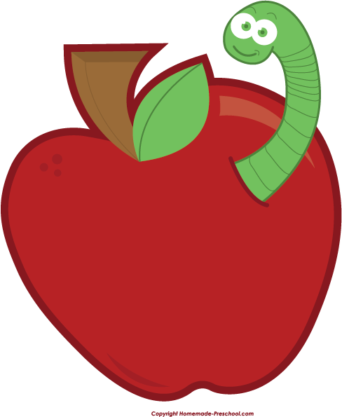 Apple Worm Clip Art-apple worm clip art-1