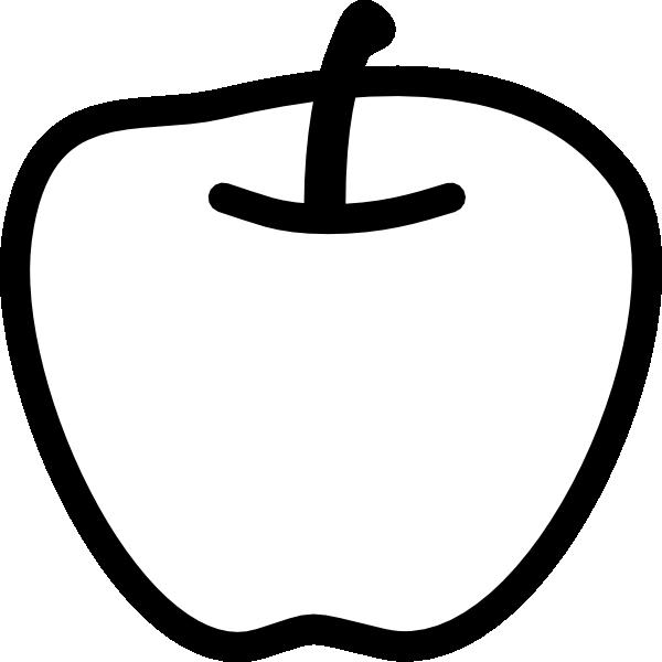 Apple Black And White Clip Art At Clker -Apple Black And White Clip Art At Clker Com Vector Clip Art Online-2