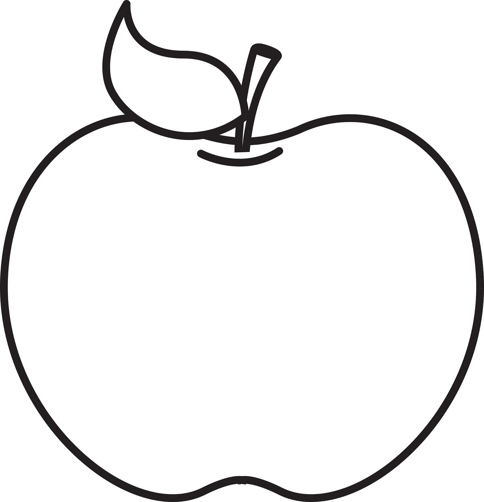 Apple Clipart Black And White-apple clipart black and white-6