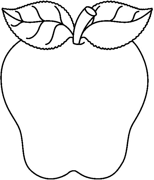 apple clipart black and white - Google Search