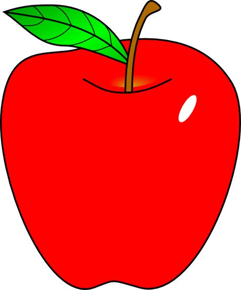 Cartoon Apple | Red Apple clip art