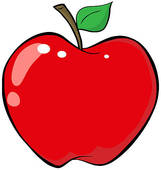 Red apple; Cartoon Red Apple