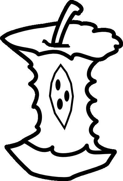 Apple Core Outline Clip Art At Clker Com Vector Clip Art Online