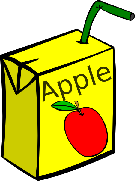 Apple Juice Box Clip Art