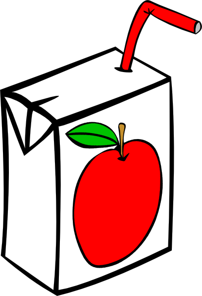 Apple Juice Carton clip art - vector clip art online, royalty free