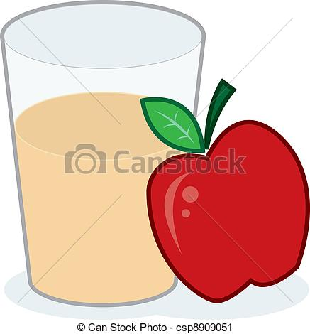 ... Apple Juice - Glass Of Apple Juice W-... Apple Juice - Glass of apple juice with apple-8