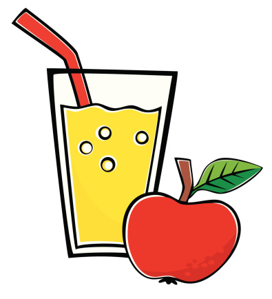 Apple juice vector art .
