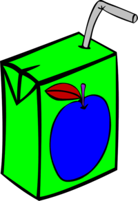 Apple Juice Vector Clip Art