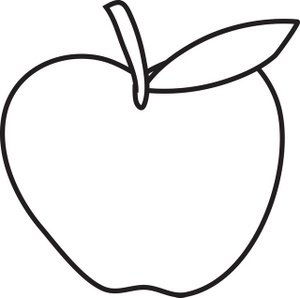 Apple outline clip art tumundografico
