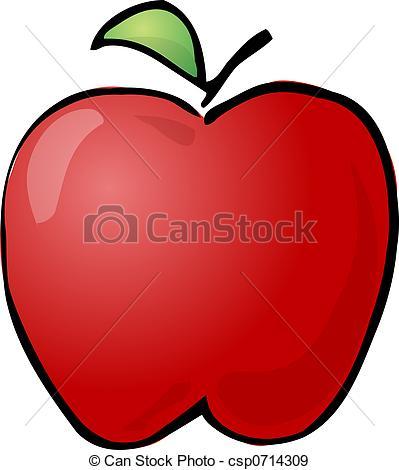 ... Apple - Sketch of an apple Hand-draw-... Apple - Sketch of an apple Hand-drawn lineart look.-9