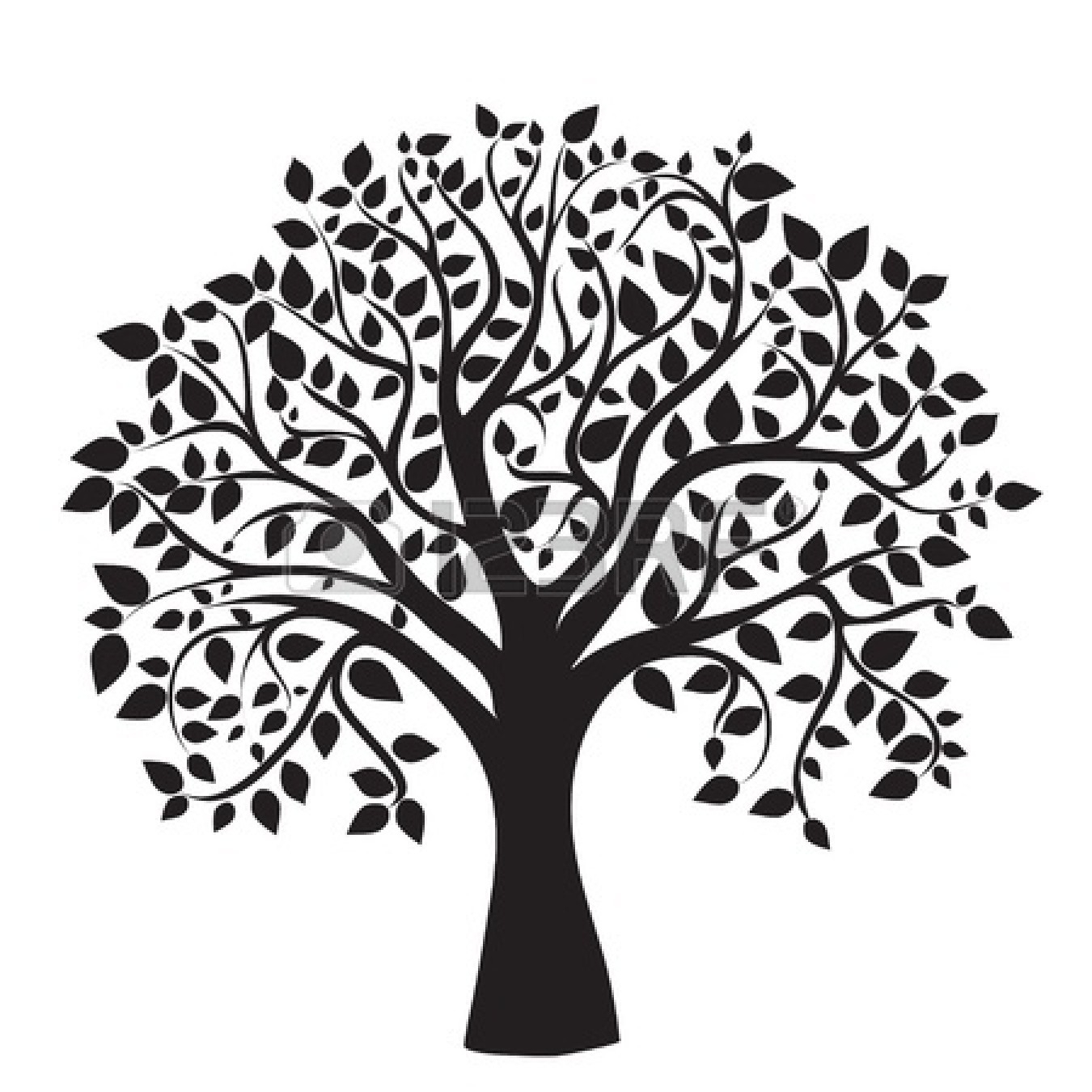 Apple Tree Black And White. Free Tree Clip Art ..
