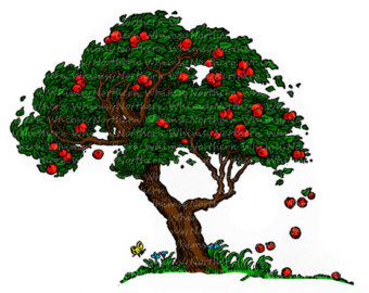 Apple Tree Clip Art - Fall Vintage Image-Apple Tree Clip Art - Fall Vintage Image u2013 Old Tree Illustration u2013 Hand Colored u2013 instant download u2013 JPEG u0026amp; PNG - Commercial Use-19