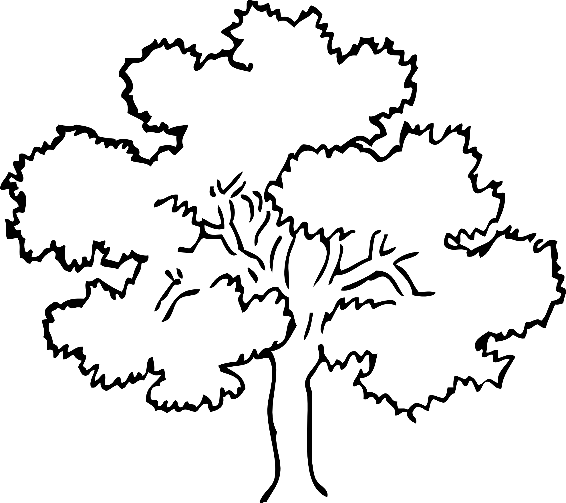 Apple Tree Clipart Black And  - Tree Clip Art Black And White