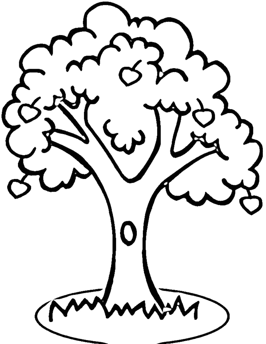Apple Tree Outline Printable - Clipart library