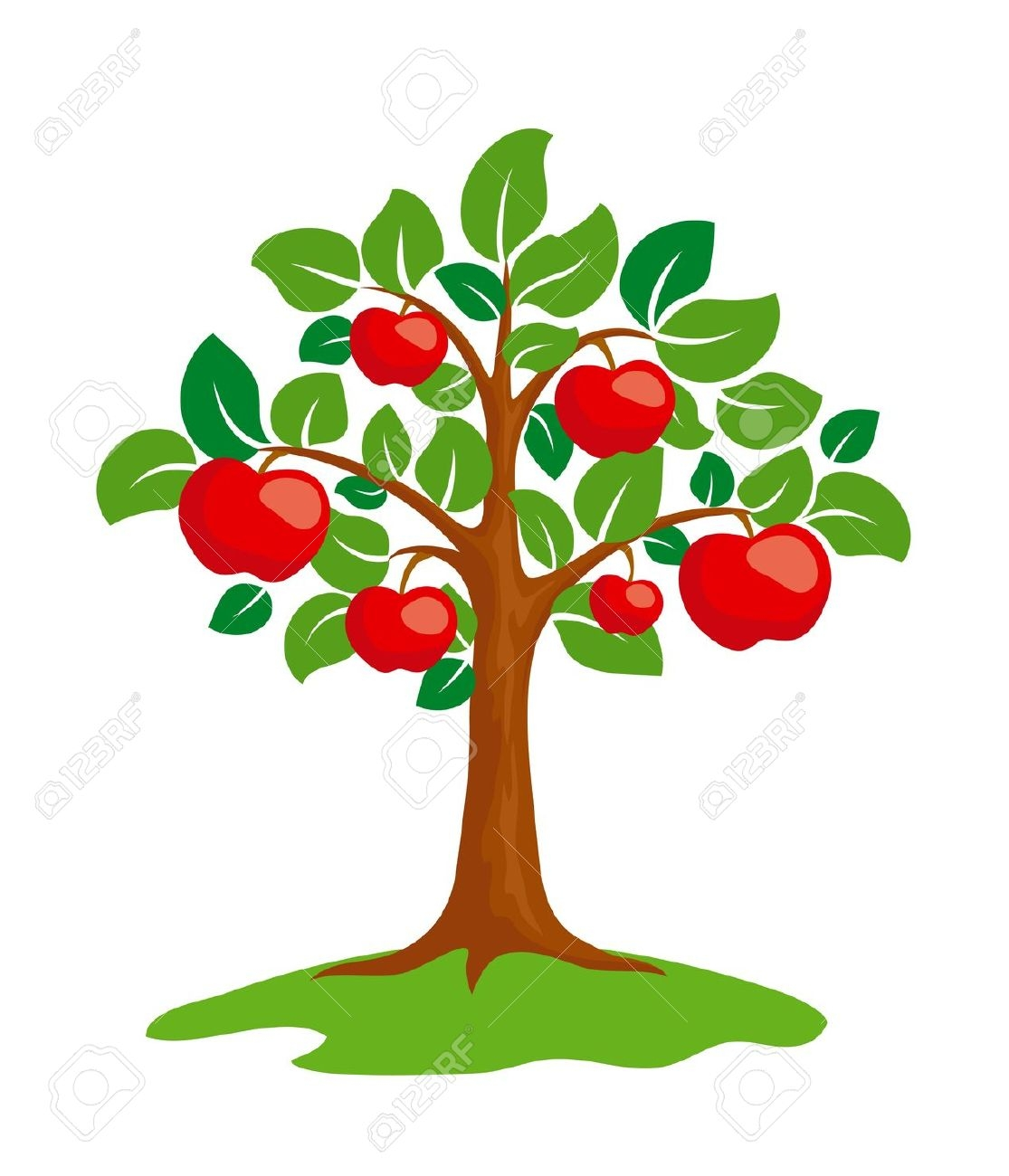 apple tree: Stylized-apple tree: Stylized-9