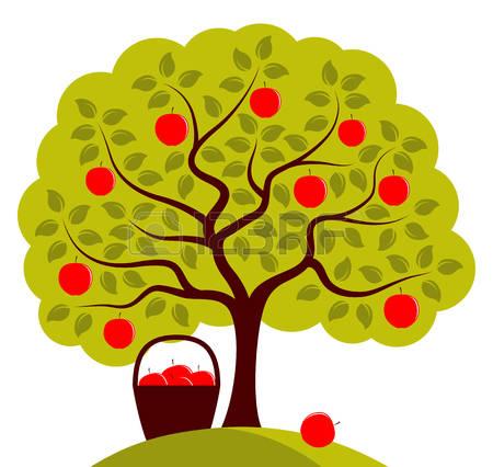 apple tree: vector apple tree .-apple tree: vector apple tree .-9