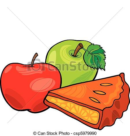 ... apples and apple pie - illustration of apples and apple pie
