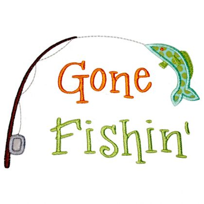 Applique Only :: Gone Fishin .-Applique Only :: Gone Fishin .-2